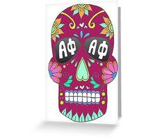 APhi Sugar Skull Greeting Card