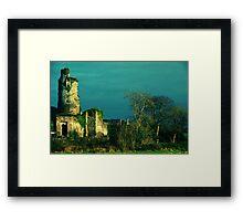 Rural Tower In Acidic Light  Framed Print