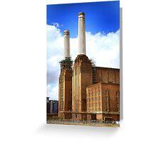 Battersea power station chimneys Greeting Card