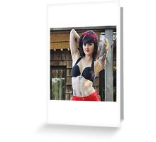 """""""fashionably tatted"""" Greeting Card"""