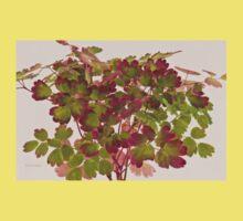 Colorful Wild Columbine Leaves Kids Tee