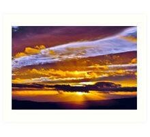 Fife Sunset Art Print