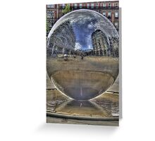 Water Sphere Greeting Card