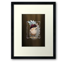Chic Chick Easter Bonnet Framed Print