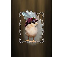 Chic Chick Easter Bonnet Photographic Print