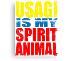 Usagi is my Spirit Animal Canvas Print