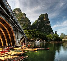 Beauty of Li River Bridge by Christopher Meder