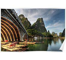 Beauty of Li River Bridge Poster