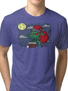 Cthulu Claus Tri-blend T-Shirt