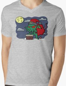 Cthulu Claus Mens V-Neck T-Shirt