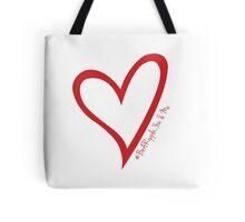 #BeARipple...You & Me. Red & White Tote Bag