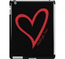 #BeARipple...Dream. Red Heart on Black iPad Case/Skin