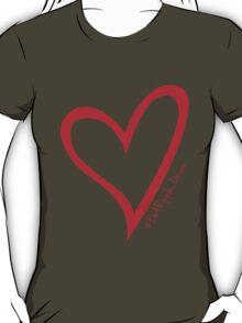 #BeARipple...Dream. Red Heart on Black T-Shirt