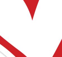 #BeARipple...Believe Red Heart on White Sticker