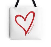 #BeARipple...Believe Red Heart on White Tote Bag