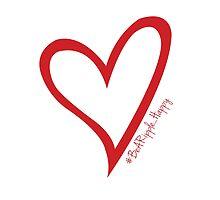 #BeARipple...Happy Red Heart on White by BeARipple