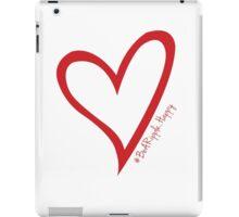 #BeARipple...Happy Red Heart on White iPad Case/Skin