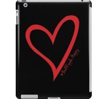 #BeARipple...Happy Red Heart on Black iPad Case/Skin