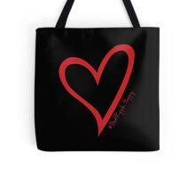 #BeARipple...Happy Red Heart on Black Tote Bag