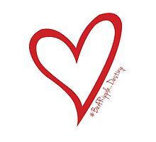 #BeARipple...Destiny Red Heart on White by BeARipple