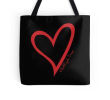 #BeARipple...Dream. Red Heart on Black Tote Bag