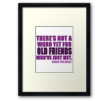 There's Not a Word Yet...(Purple) Framed Print
