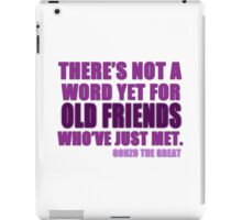 There's Not a Word Yet...(Purple) iPad Case/Skin