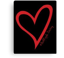 #BeARipple...Destiny Red Heart on Black Canvas Print