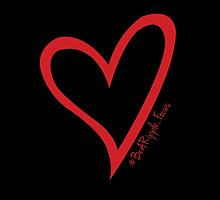 #BeARipple...Focus Red Heart on Black by BeARipple