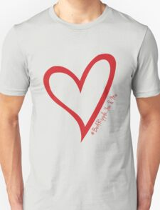 #BeARipple...You & Me Red Heart on Black Unisex T-Shirt