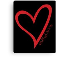 #BeARipple...You & Me Red Heart on Black Canvas Print