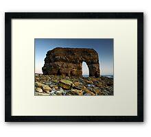 Marsden Rock Digitally Rebuilt Framed Print