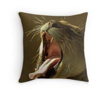 Yawning. Throw Pillow