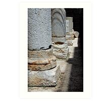 Roman Colonnade, Cartagena, Spain Art Print