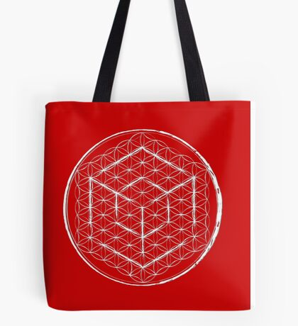 Cubed Flower of life  Tote Bag