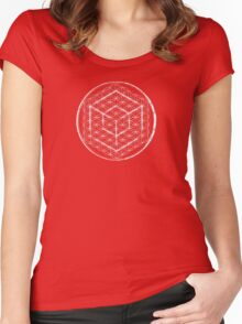 Cubed Flower of life  Women's Fitted Scoop T-Shirt