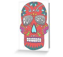 Delta Gamma Sugar Skull Greeting Card