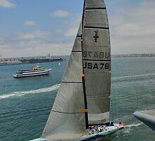 Abracadabra, America's Cup Yacht in San Diego by Alisdair Gurney