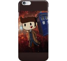 Chibi 10th Doctor in Space (Doctor Who) iPhone Case/Skin