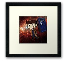 Chibi 10th Doctor in Space (Doctor Who) Framed Print