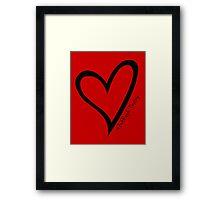 #BeARipple...Destiny Black Heart on Red Framed Print