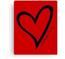 #BeARipple...Destiny Black Heart on Red Canvas Print