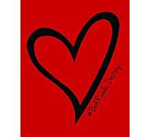 #BeARipple...Destiny Black Heart on Red Photographic Print