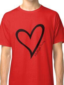 #BeARipple...Destiny Black Heart on Red Classic T-Shirt