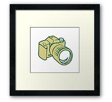 Camera DSLR Retro Framed Print