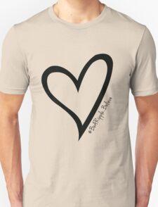 #BeARipple...Believe Black Heart on White T-Shirt