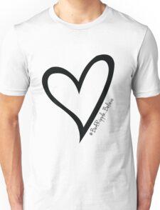 #BeARipple...Believe Black Heart on White Unisex T-Shirt