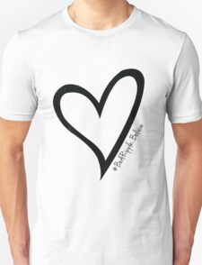 #BeARipple...Believe Black Heart on White T-Shirt