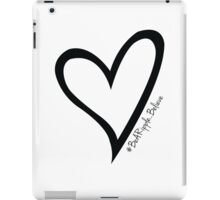 #BeARipple...Believe Black Heart on White iPad Case/Skin