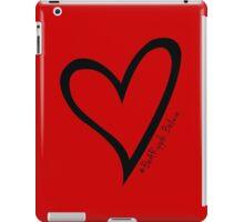 #BeARipple...Believe Black Heart on Red iPad Case/Skin